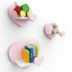 Meble dla dzieci | Półka Serce Zestaw 3x Półki Serca. Różne kolory - image | marSELL24.eu