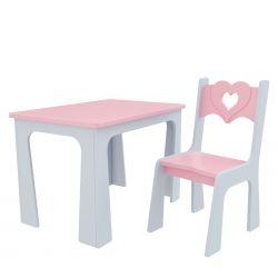 Meble dla dzieci | Krzesełko i Stolik dla dziecka Producent Serce - image | marSELL24.eu
