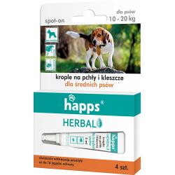 Odstraszanie szkodników | Happs Spot-on – Krople przeciw pchłom i kleszczom dla średnich psów 10-20kg - image | marSELL24.eu
