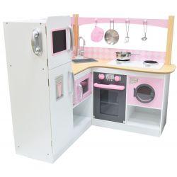 Kuchnie | Kuchnia Rogowa dla Dzieci NADINE Pralka Garnki - image | marSELL24.eu