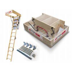 Schody strychowe | Schody Strychowe EXTREME 76mm 90x70 + Mocowania - image | marSELL24.eu