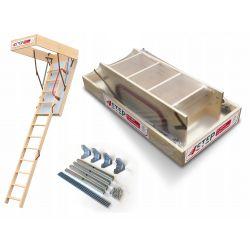 Schody strychowe | Schody Strychowe EXTREME 76mm 120x60 + Mocowania - image | marSELL24.eu