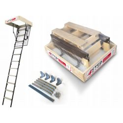 Schody strychowe | Schody Strychowe MINI Stallux 80x60 1,2W Mocowania - image | marSELL24.eu