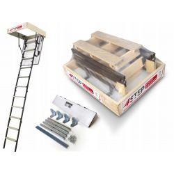 Schody strychowe | Schody Strychowe MINI Stallux 80x70 1,2W Mocowania - image | marSELL24.eu