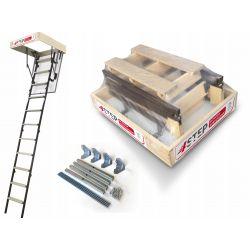 Schody strychowe | Schody Strychowe MINI Stallux 80x55 1,2W Mocowania - image | marSELL24.eu