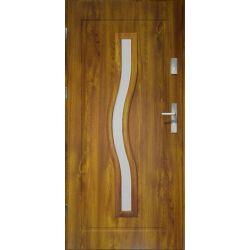 Drzwi zewnętrzne | Drzwi Zewn�trzne CERES- LAKOMAT Z�OTY D�B 80L PVC - image | marSELL24.eu