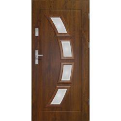 Drzwi zewnętrzne | Drzwi Zewn. LAKOMAT HERMES 90P CIEMNY ORZECH PVC - image | marSELL24.eu