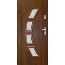 Drzwi zewnętrzne | Drzwi Zewn. LAKOMAT HERMES CIEMNY ORZECH 80L PVC - image | marSELL24.eu