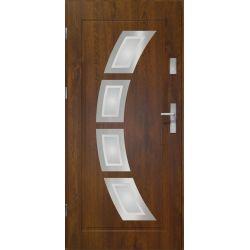 Drzwi zewnętrzne | Drzwi Zewn. LAKOMAT HERMES CIEMNY ORZECH 80L INOX - image | marSELL24.eu