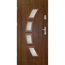 Drzwi zewnętrzne | Drzwi Zewnętrzne HERMES STOPSOL 90L PCV C.ORZECH - image | marSELL24.eu