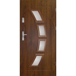 Drzwi zewnętrzne | Drzwi HERMES STOPSOL PCV 80P CIEMNY ORZECH - image | marSELL24.eu