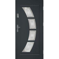 Drzwi zewnętrzne | Drzwi Zewn�trzne STOPSOL HERMES ANTRACYT 80P INOX - image | marSELL24.eu