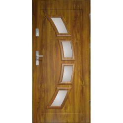 Drzwi zewnętrzne | Drzwi Zewn�trzne HERMES STOPSOL 90P PCV Z�OTY D�B - image | marSELL24.eu