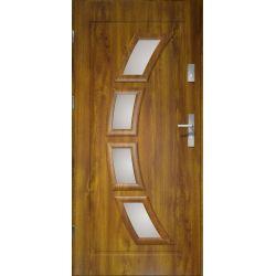 Drzwi zewnętrzne | Drzwi Zewn�trzne HERMES STOPSOL 80L PCV Z�OTY D�B - image | marSELL24.eu