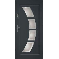 Drzwi zewnętrzne | Drzwi Zewn�trzne STOPSOL HERMES 90P ANTRACYT INOX - image | marSELL24.eu