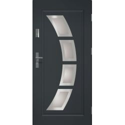 Drzwi zewnętrzne | Drzwi Zewnętrzne STOPSOL HERMES ANTRACYT 80P INOX - image | marSELL24.eu