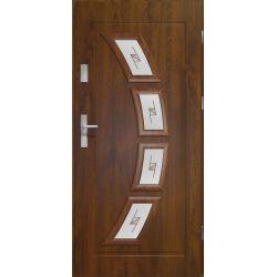Drzwi zewnętrzne | Drzwi Zewnętrzne HERMES WITRAŻ PCV 90 P C.ORZECH - image | marSELL24.eu