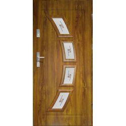 Drzwi zewnętrzne | Drzwi Zewn�trzne HERMES WITRA� PCV 90 P Z�OTY D�B - image | marSELL24.eu