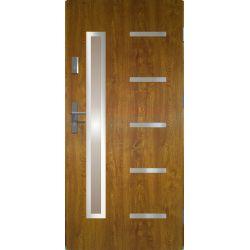 Drzwi zewnętrzne | Drzwi Zewn�trzne STOPSOL - JUVENTUS 80P Z�OTY D�B - image | marSELL24.eu