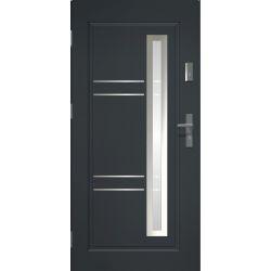 Drzwi zewnętrzne   Drzwi Zewnętrzne APOLLO INOX LAKOMAT ANTRACYT 80L - image   marSELL24.eu