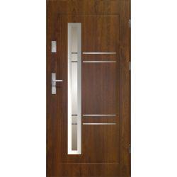 Drzwi zewnętrzne | Drzwi Zewn�trzne APOLLO CIEMNY ORZECH STOPSOL 80P - image | marSELL24.eu
