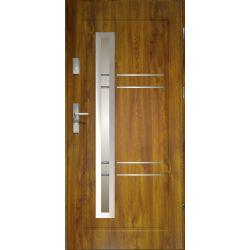 Drzwi zewnętrzne | Drzwi Zewn�trzne APOLLO STOPSOL INOX Z�OTY D�B 90P - image | marSELL24.eu