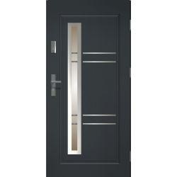 Drzwi zewnętrzne | Drzwi Zewn�trzne APOLLO ANTRACYT STOPSOL INOX 80P - image | marSELL24.eu