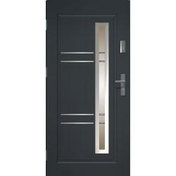 Drzwi zewnętrzne | Drzwi Zewn�trzne APOLLO INOX STOPSOL ANTRACYT 80L - image | marSELL24.eu