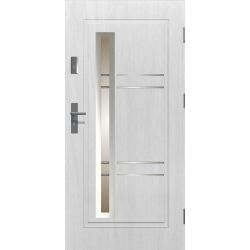 Drzwi zewnętrzne | Drzwi Zewnętrzne APOLLO BIAŁY STOPSOL INOX 80P - image | marSELL24.eu