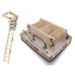 Schody strychowe | Schody Strychowe EXTRA 46 mm 120x70 70x120 H=320cm - image | marSELL24.eu