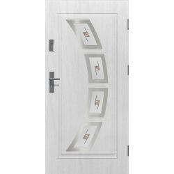Drzwi zewnętrzne | Drzwi Zewnętrzne HERMES WITRAŻ INOX 80P BIAŁE - image | marSELL24.eu
