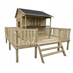 Domki | Drewniany Domek Dzieci Ogrodowy ZUZA na Platformie - image | marSELL24.eu