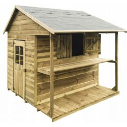 Domki | Drewniany Domek Ogrodowy dla Dzieci KIOSK od 4iQ - image | marSELL24.eu