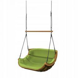 Huśtawki | Podwójny Wieszany Fotel Alpha Zielony Poprzeczka - image | marSELL24.eu