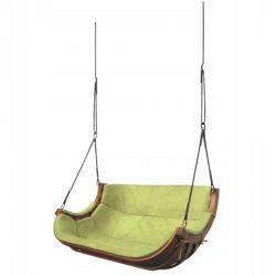 Huśtawki | Podwójny Wieszany Fotel Alpha Zielony - image | marSELL24.eu