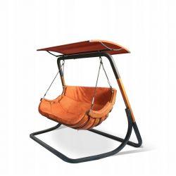 Huśtawki | Dwuosobowy Fotel ALPHA + Daszek Terracota Stelaż - image | marSELL24.eu