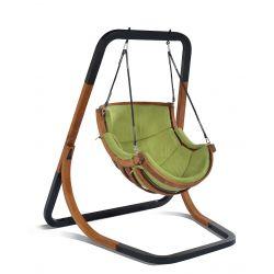 Fotele wiszące   Fotel Ogrodowy ALPHA Zielony Wyjątkowy Hamak - image   marSELL24.eu