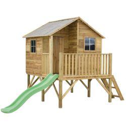 Domki | Drewniany Domek Ogrodowy Dla Dzieci JERZYK + ŚLIZG - image | marSELL24.eu