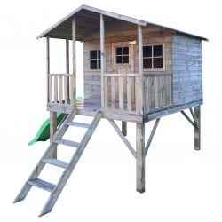 Domki | Drewniany Domek Ogrodowy Gucio + Ślizg ! - image | marSELL24.eu