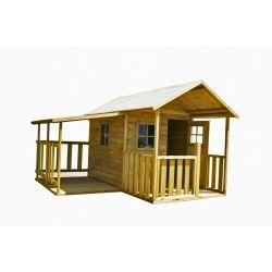Domki | BLANKA z Garażem Drewniany Domek dla Dzieci od 4iQ - image | marSELL24.eu