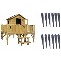 Domki | Drewniany Domek Ogrodowy dla Dzieci MACIEJ + Kotwy - image | marSELL24.eu
