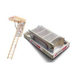 Schody strychowe | Schody Strychowe EXTRA 46 mm,130x80 80x130 PORĘCZ - image | marSELL24.eu