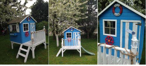 Domki do ogrodu | Drewniany Domek Ogrodowy dla Dzieci TOMEK + ŚLIZG - image 9 | marSELL24.eu