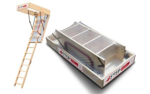 Schody strychowe   Schody Strychowe EXTRA 46 mm,130x80 80x130 PORĘCZ - image   marSELL24.eu