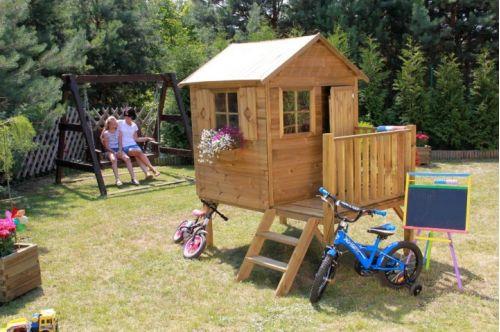 Domki do ogrodu | Drewniany Domek Ogrodowy dla Dzieci TOMEK + ŚLIZG - image 6 | marSELL24.eu