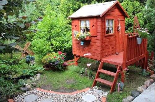 Domki do ogrodu | Drewniany Domek Ogrodowy dla Dzieci TOMEK + ŚLIZG - image 12 | marSELL24.eu