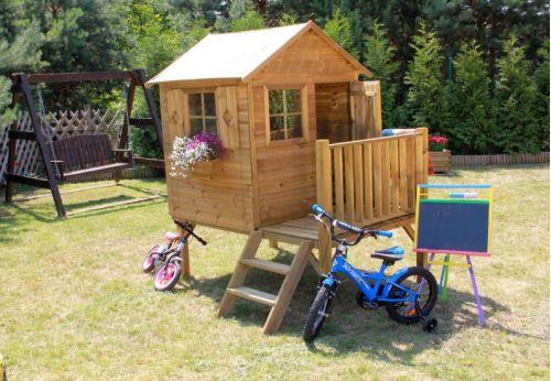 Domki do ogrodu | Drewniany Domek Ogrodowy dla Dzieci TOMEK + ŚLIZG - image 5 | marSELL24.eu