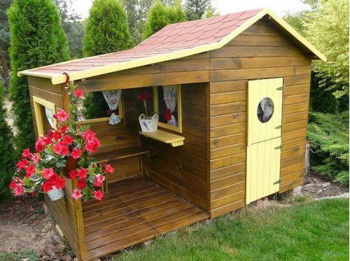 Domki do ogrodu | Drewniany Domek Ogrodowy dla Dzieci ELA od 4iQ - image 5 | marSELL24.eu