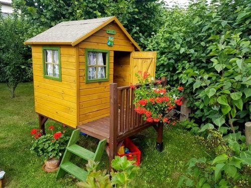 Domki do ogrodu | Drewniany Domek Ogrodowy dla Dzieci TOMEK + ŚLIZG - image 10 | marSELL24.eu