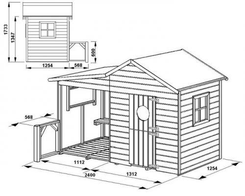Domki do ogrodu | Drewniany Domek Ogrodowy dla Dzieci ELA od 4iQ - image 8 | marSELL24.eu